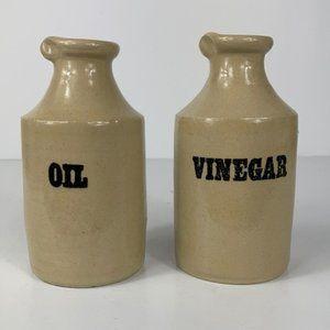 Pearsons of Chesterfield Oil/Vinegar Pottery Jugs